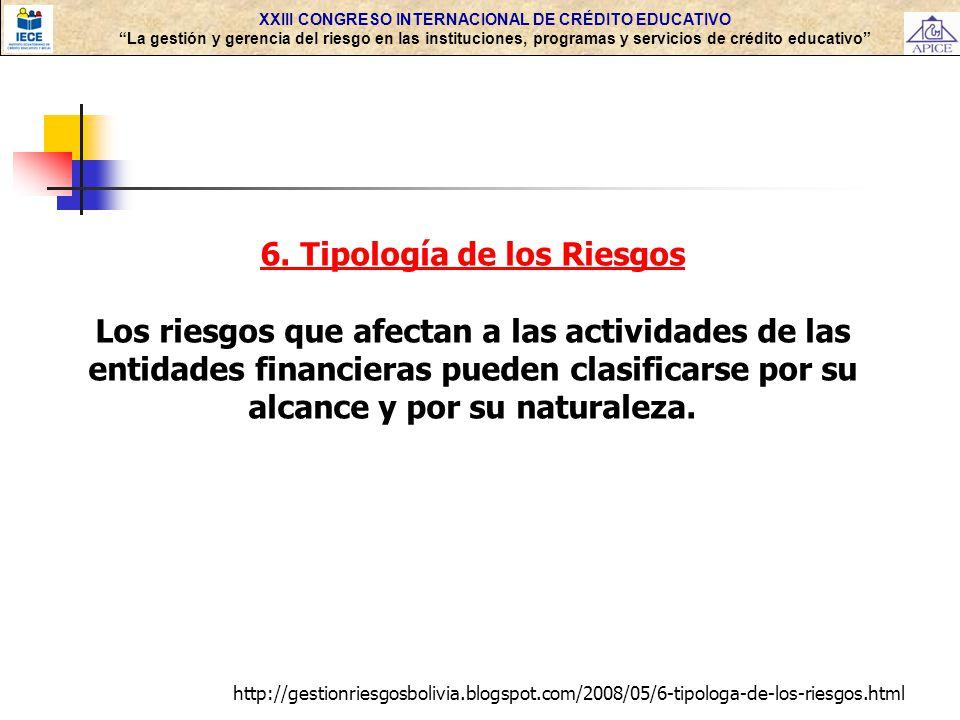 6. Tipología de los Riesgos