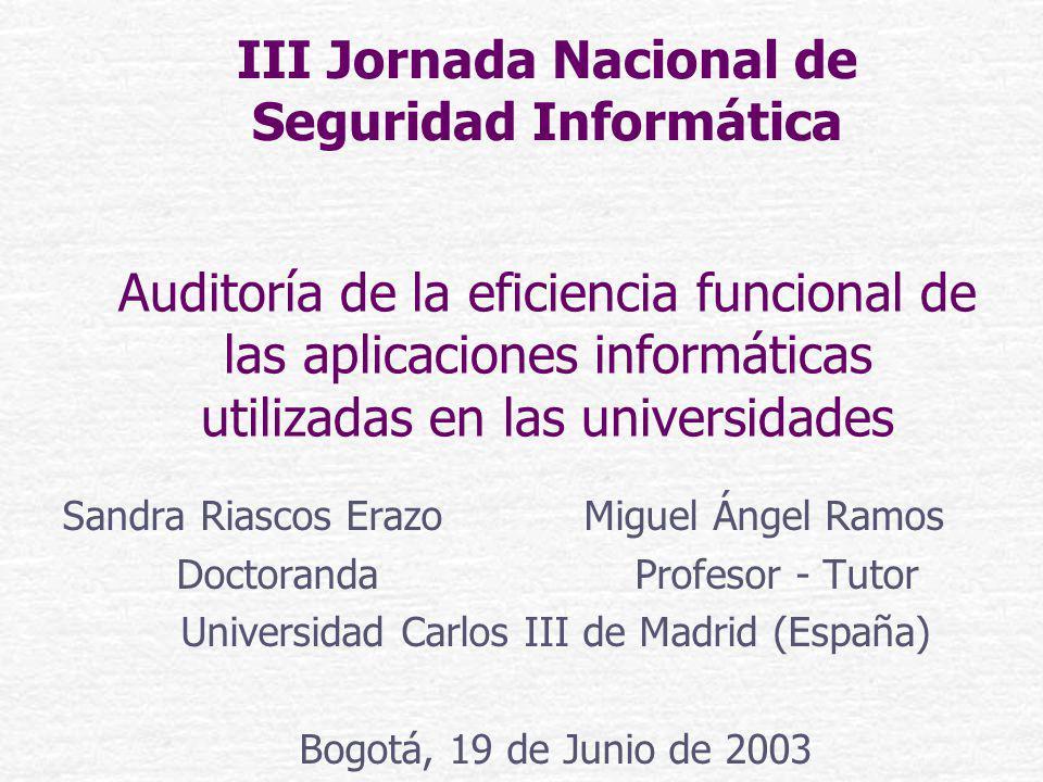 III Jornada Nacional de Seguridad Informática