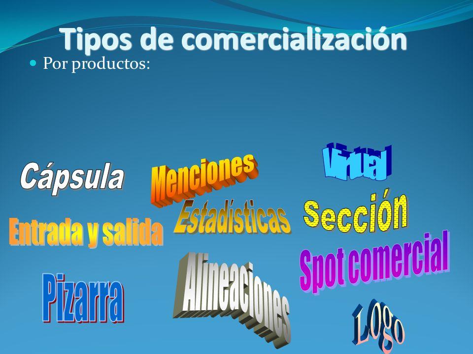 Tipos de comercialización