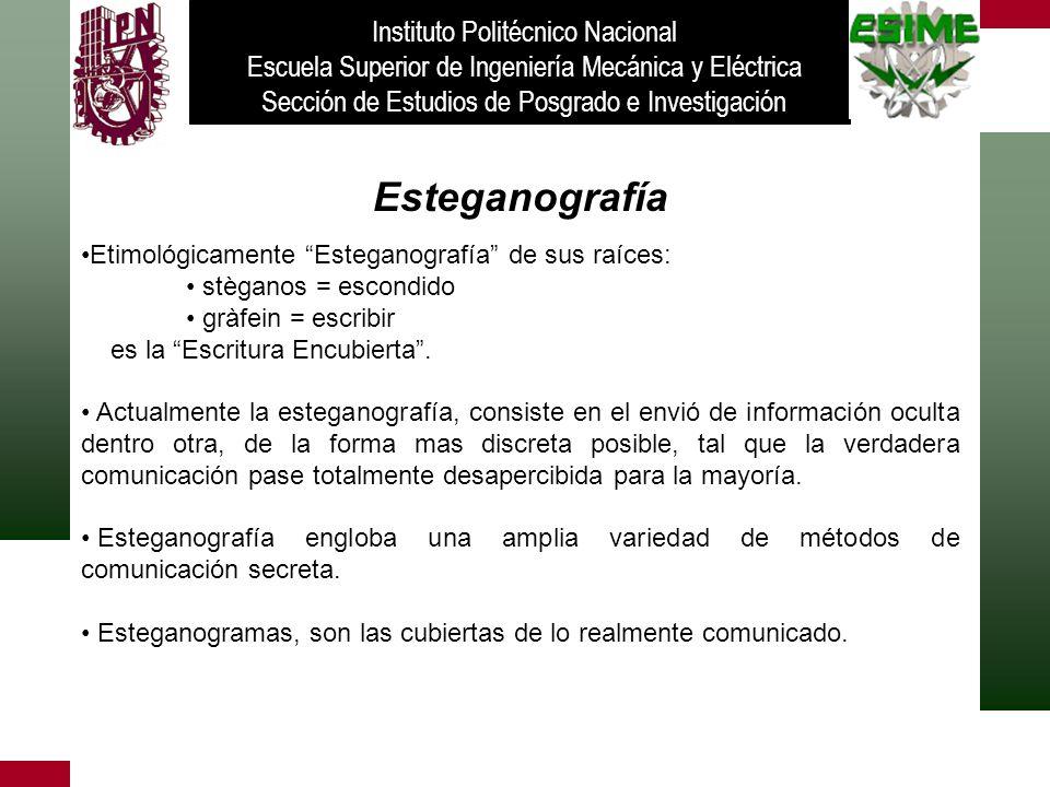 Esteganografía Instituto Politécnico Nacional