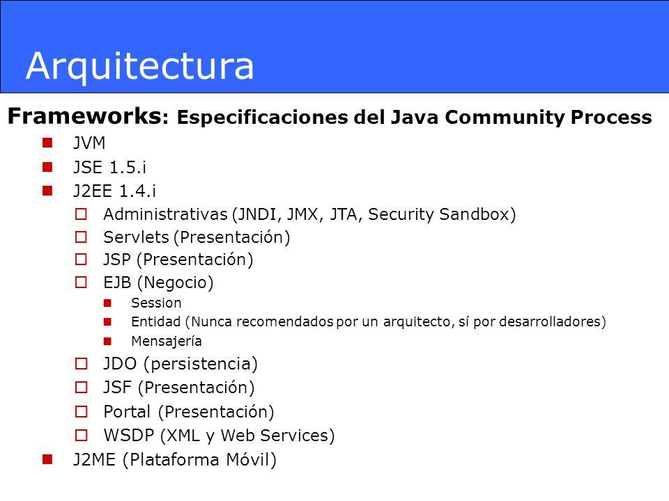 Arquitectura Frameworks: Especificaciones del Java Community Process