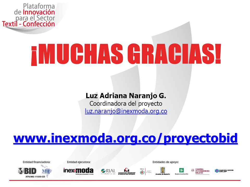Coordinadora del proyecto luz.naranjo@inexmoda.org.co