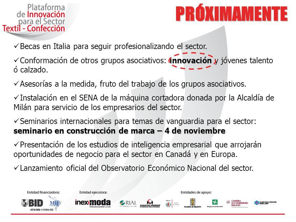 PRÓXIMAMENTE Becas en Italia para seguir profesionalizando el sector.