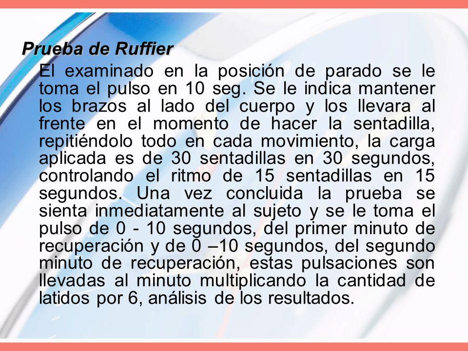 Prueba de Ruffier