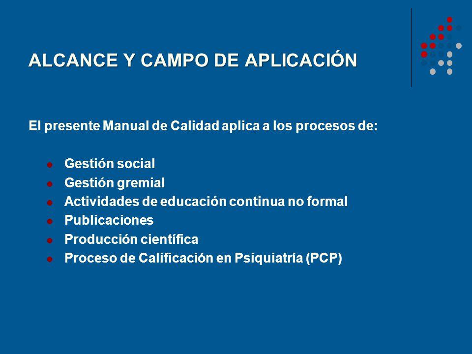 ALCANCE Y CAMPO DE APLICACIÓN