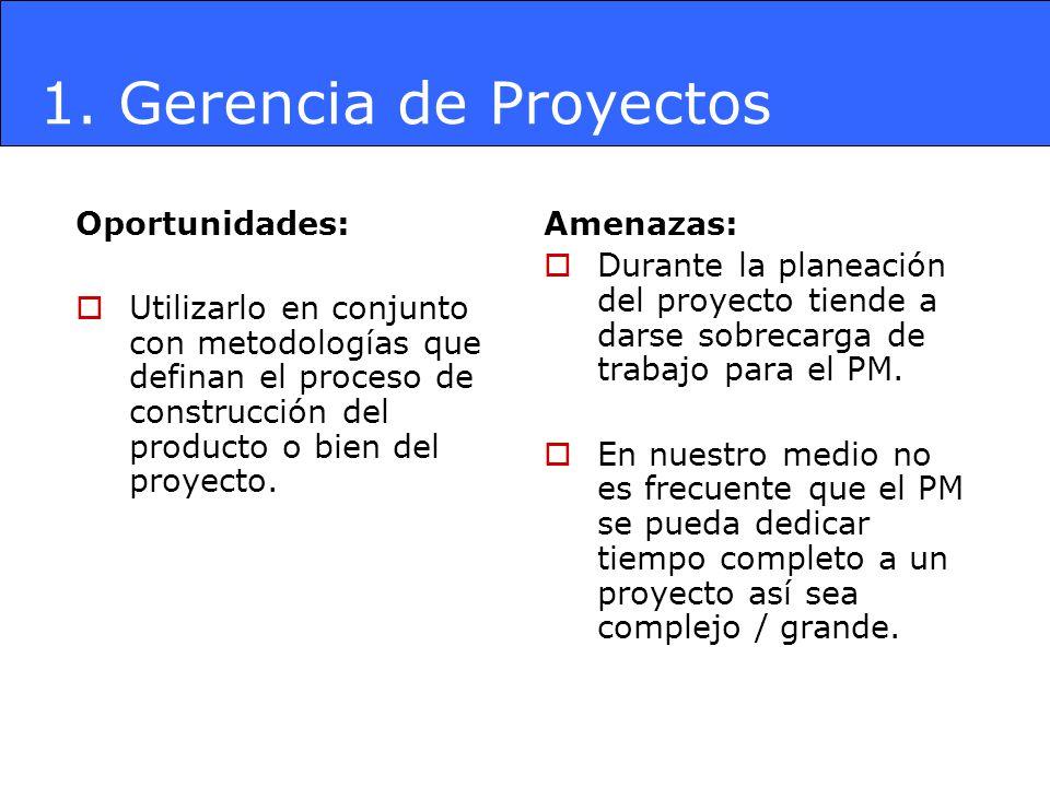 1. Gerencia de Proyectos Oportunidades: