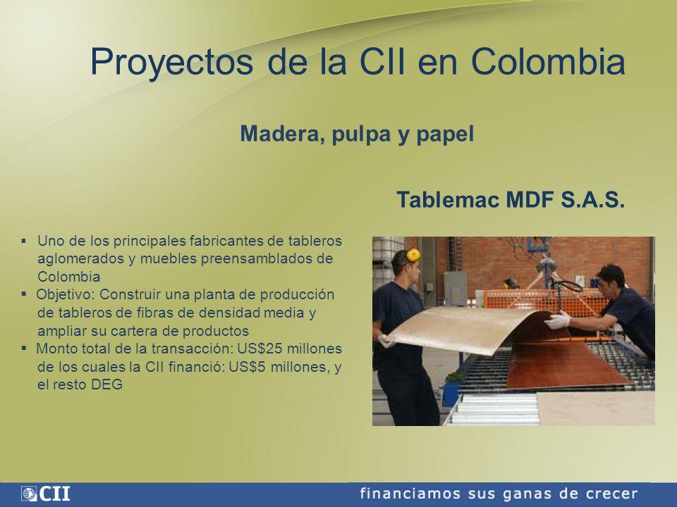 Proyectos de la CII en Colombia
