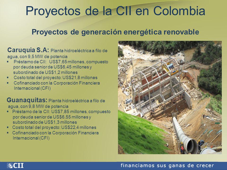 Proyectos de generación energética renovable