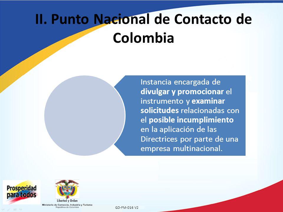 II. Punto Nacional de Contacto de Colombia