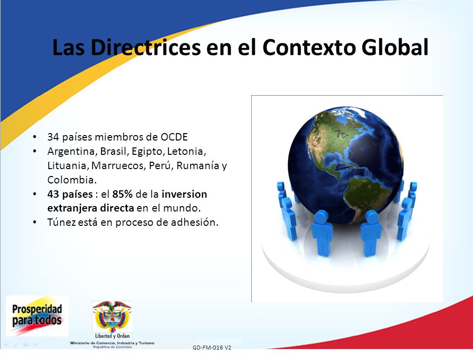 Las Directrices en el Contexto Global