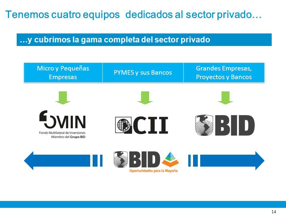 Tenemos cuatro equipos dedicados al sector privado…