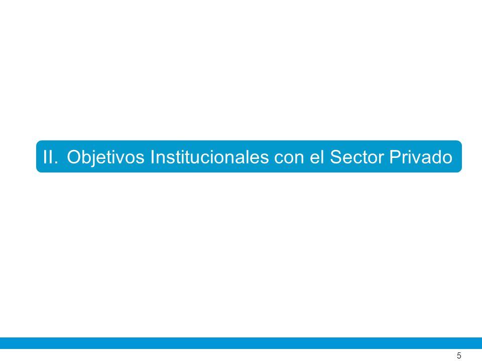 Objetivos Institucionales con el Sector Privado