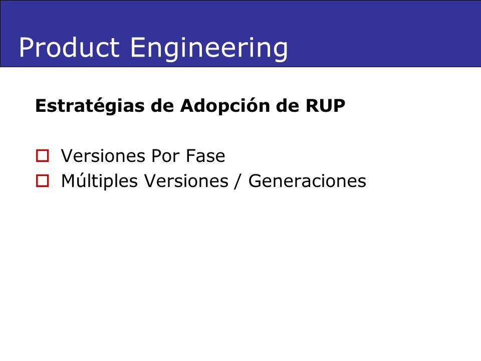 Product Engineering Estratégias de Adopción de RUP Versiones Por Fase