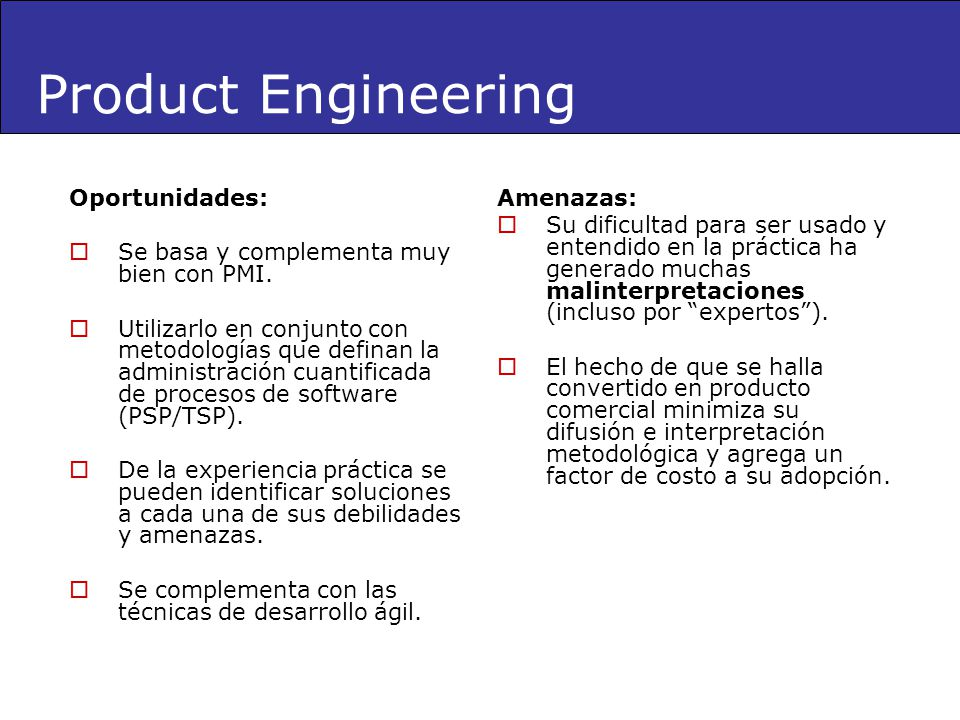 Product Engineering Oportunidades: