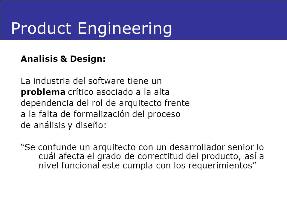 Product Engineering Analisis & Design: