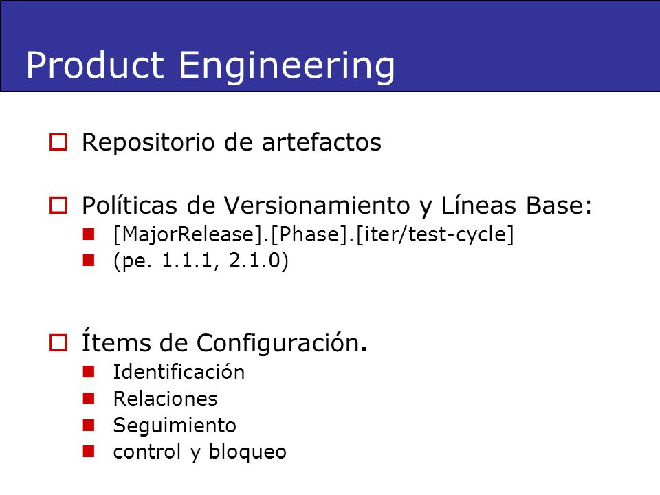 Product Engineering Repositorio de artefactos