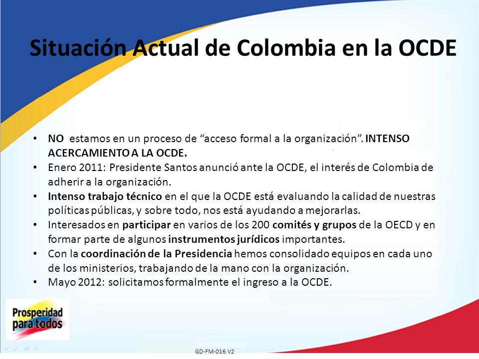 Situación Actual de Colombia en la OCDE