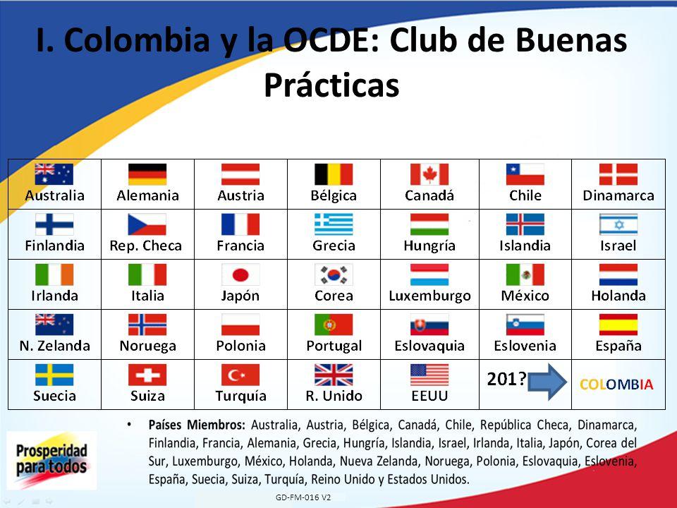 I. Colombia y la OCDE: Club de Buenas Prácticas