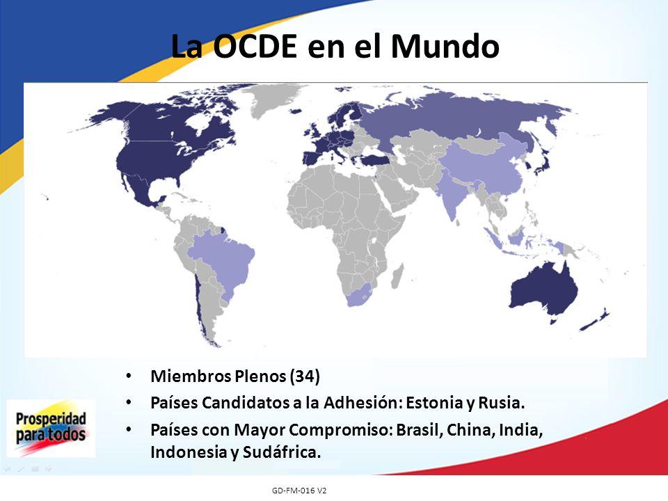 La OCDE en el Mundo Miembros Plenos (34)