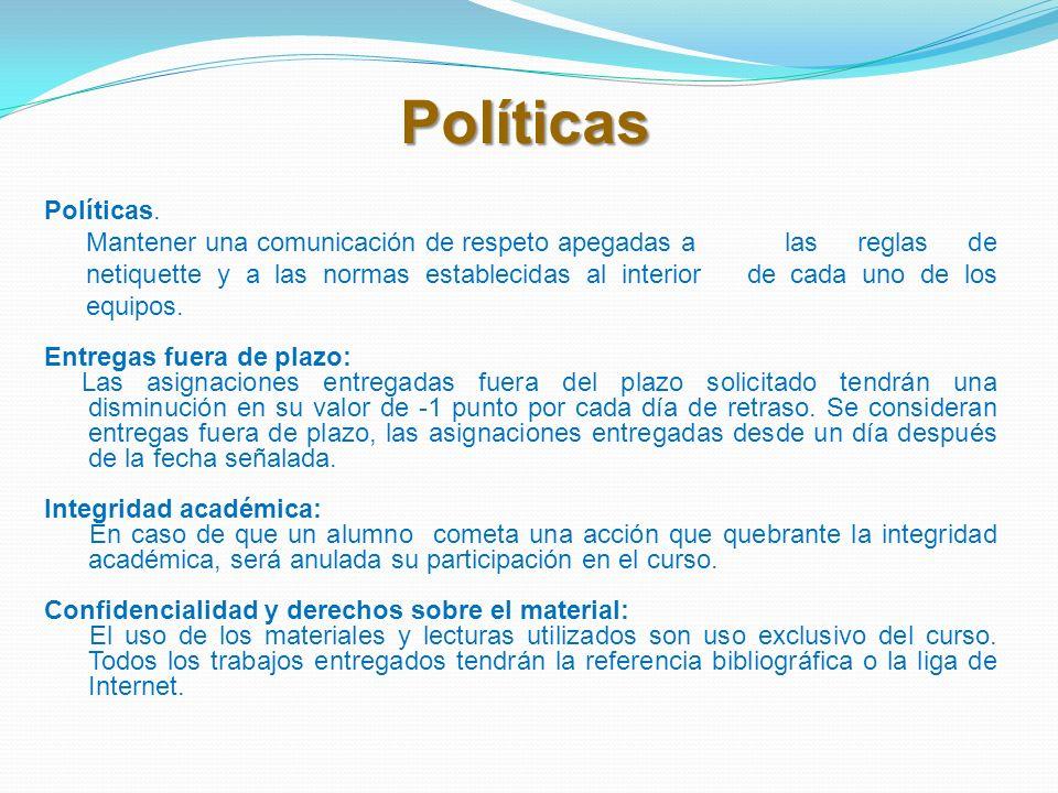 Políticas Políticas.