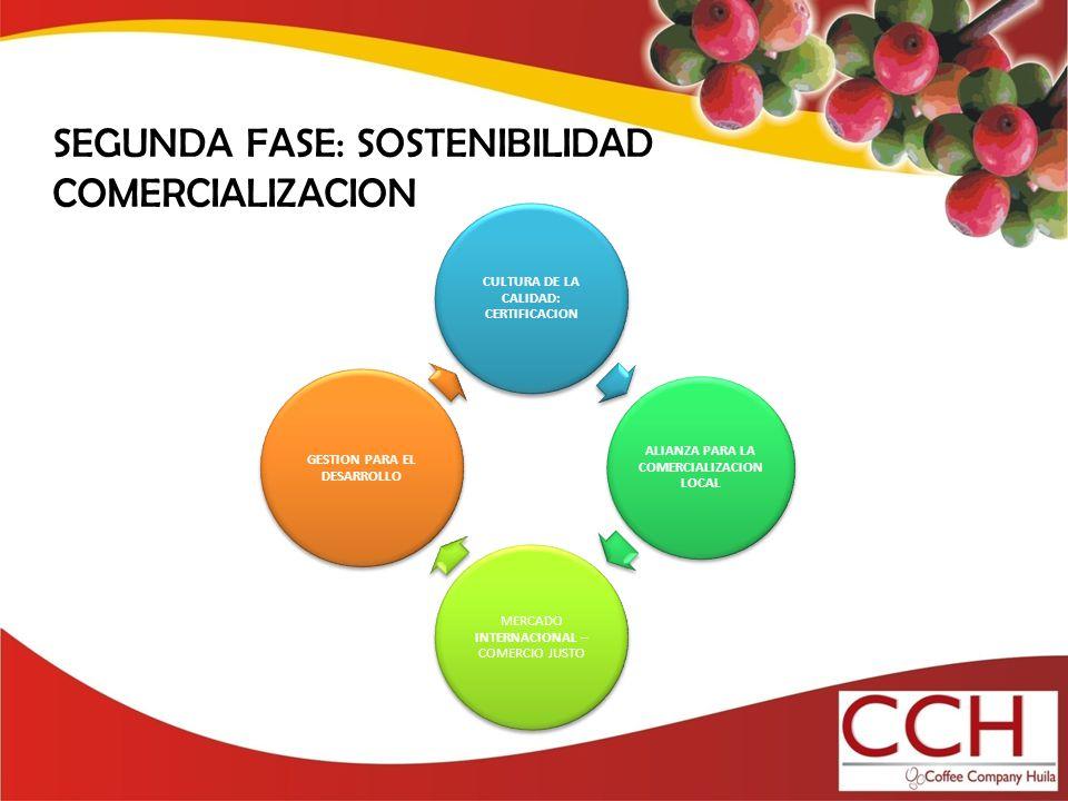 SEGUNDA FASE: SOSTENIBILIDAD COMERCIALIZACION