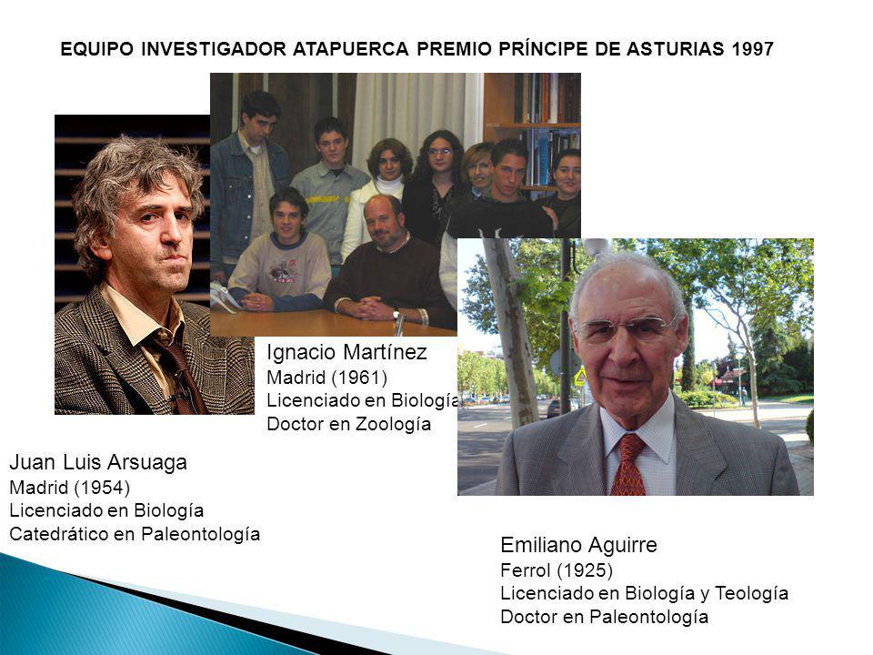 Ignacio Martínez Juan Luis Arsuaga Emiliano Aguirre