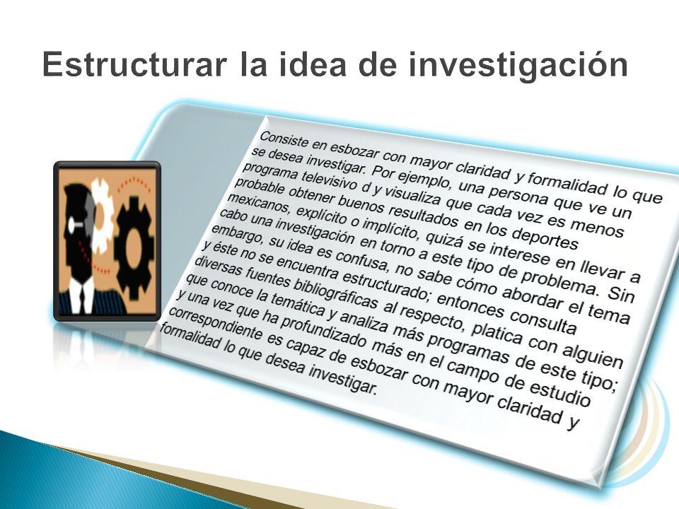 Estructurar la idea de investigación