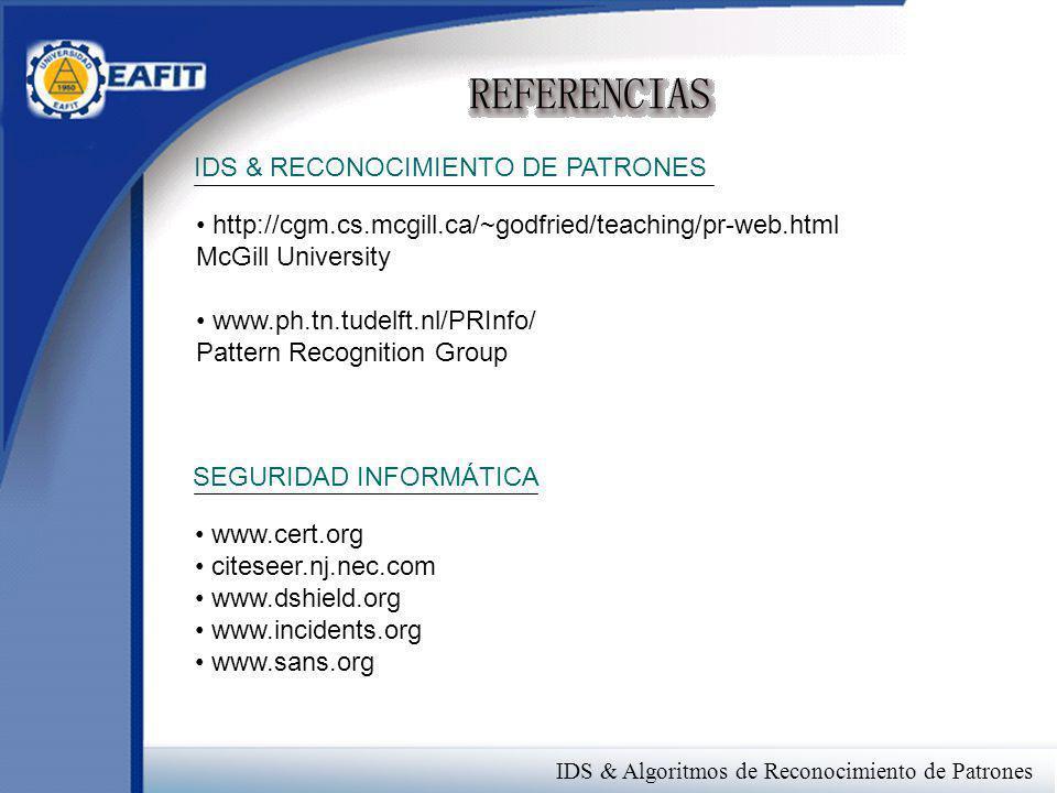 IDS & RECONOCIMIENTO DE PATRONES