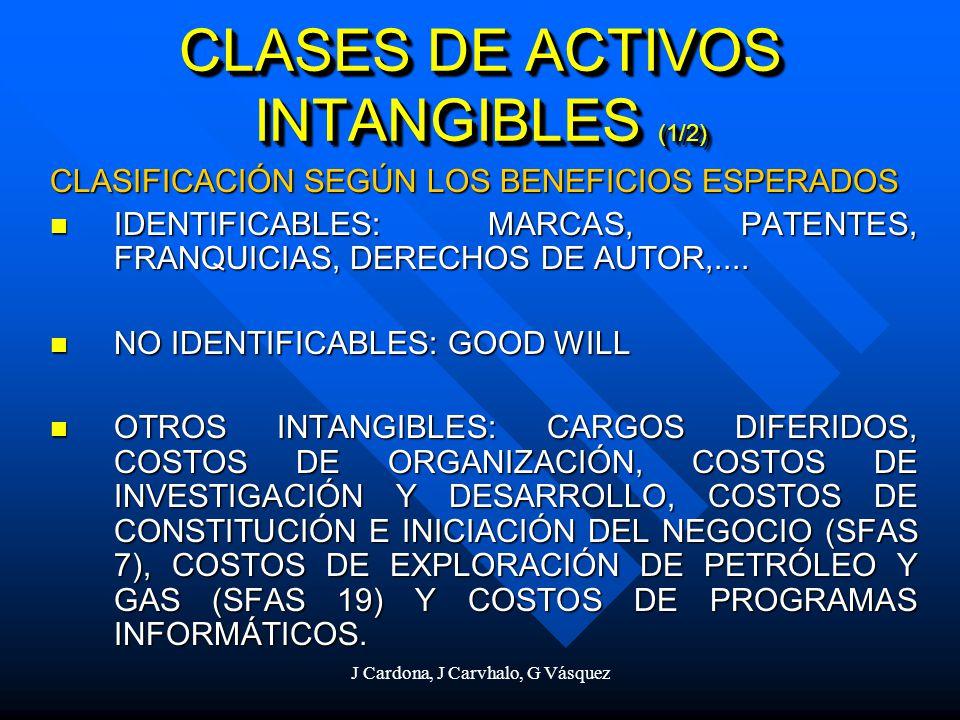CLASES DE ACTIVOS INTANGIBLES (1/2)