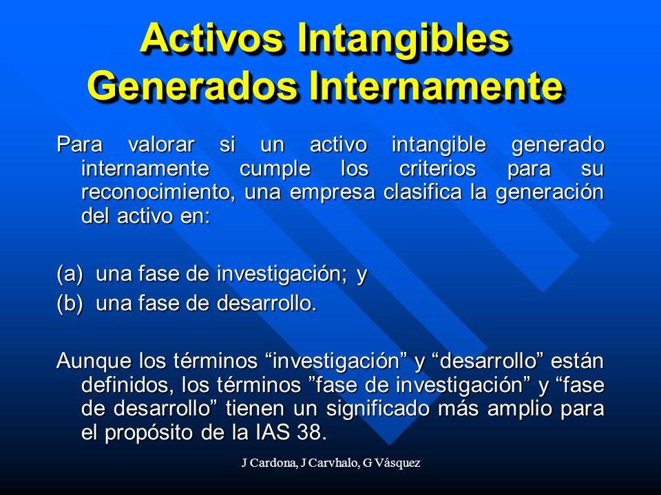 Activos Intangibles Generados Internamente