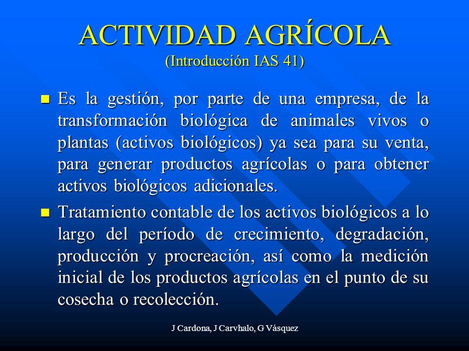 ACTIVIDAD AGRÍCOLA (Introducción IAS 41)