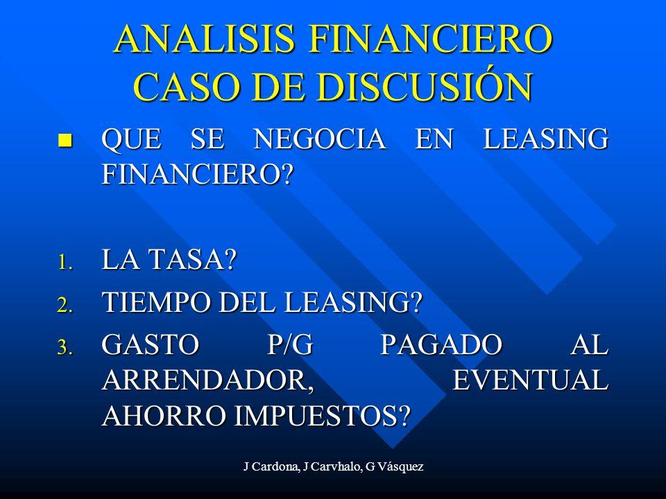 ANALISIS FINANCIERO CASO DE DISCUSIÓN