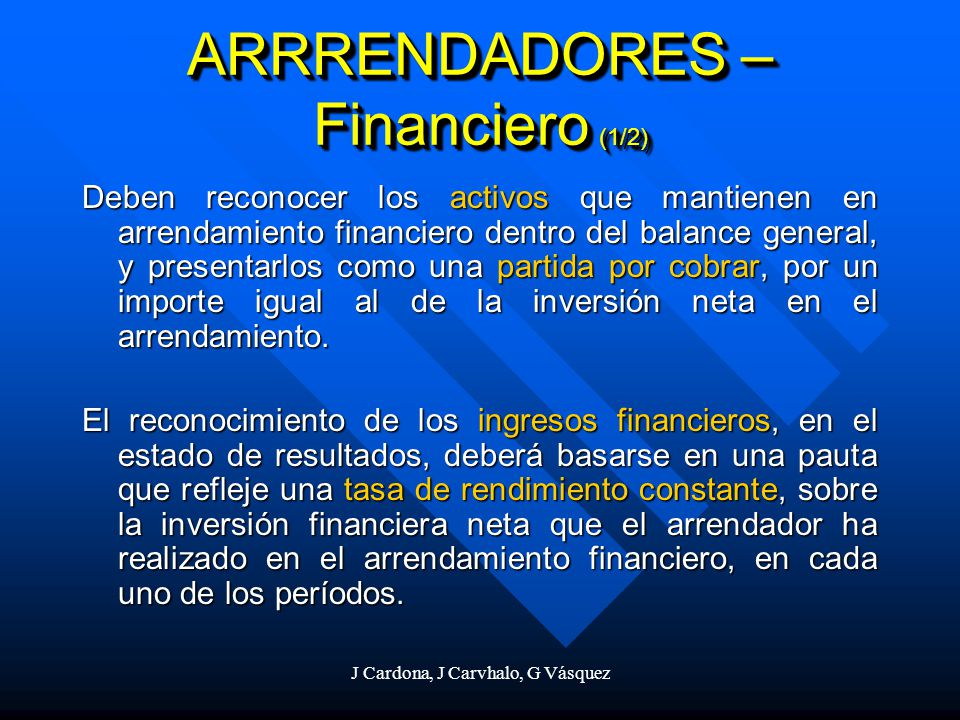 ARRRENDADORES – Financiero (1/2)