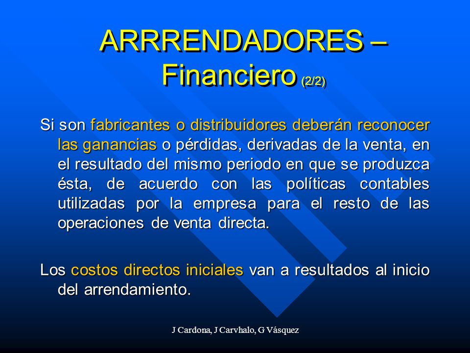 ARRRENDADORES – Financiero (2/2)