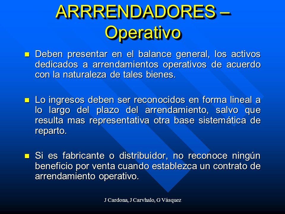 ARRRENDADORES – Operativo