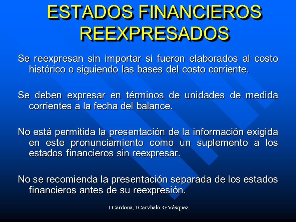 ESTADOS FINANCIEROS REEXPRESADOS
