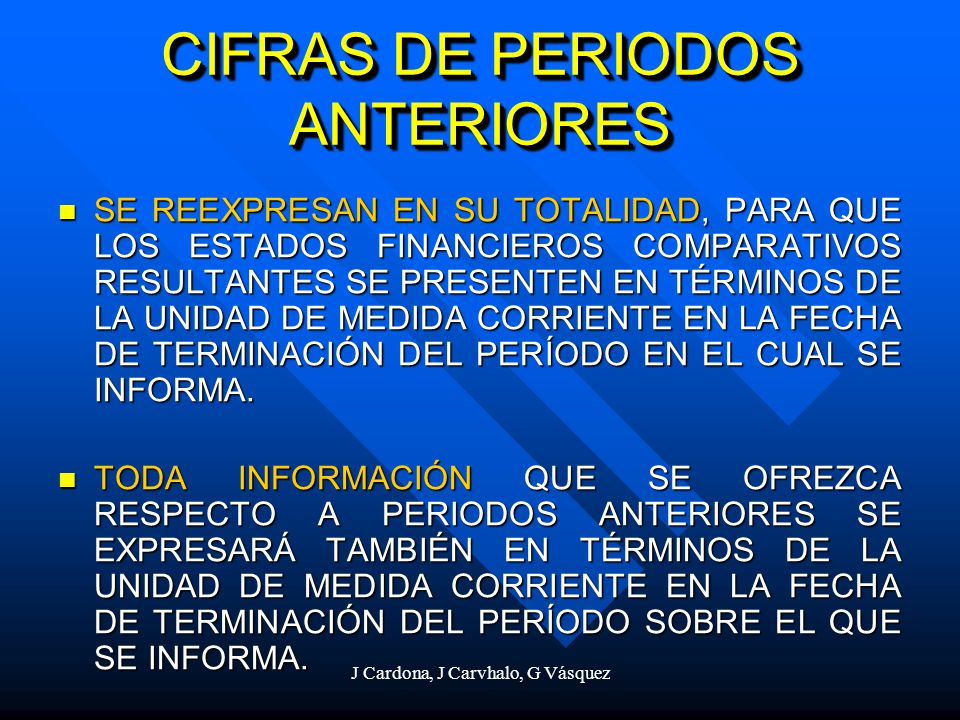 CIFRAS DE PERIODOS ANTERIORES