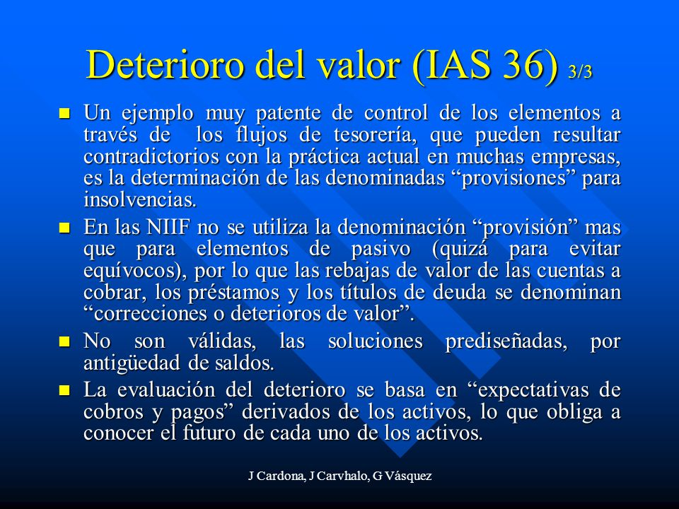Deterioro del valor (IAS 36) 3/3