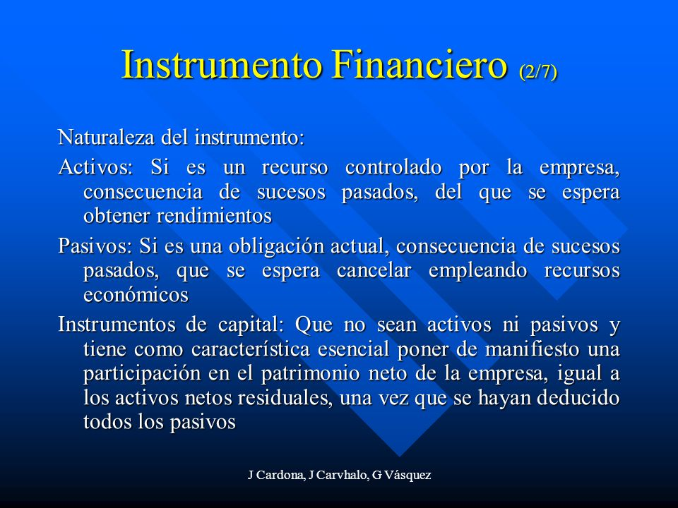 Instrumento Financiero (2/7)