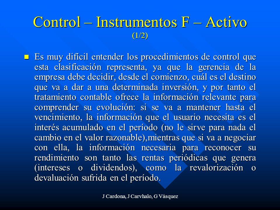 Control – Instrumentos F – Activo (1/2)