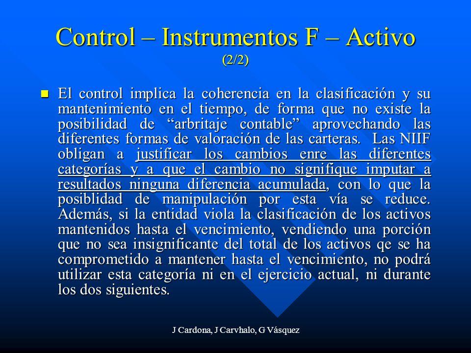 Control – Instrumentos F – Activo (2/2)