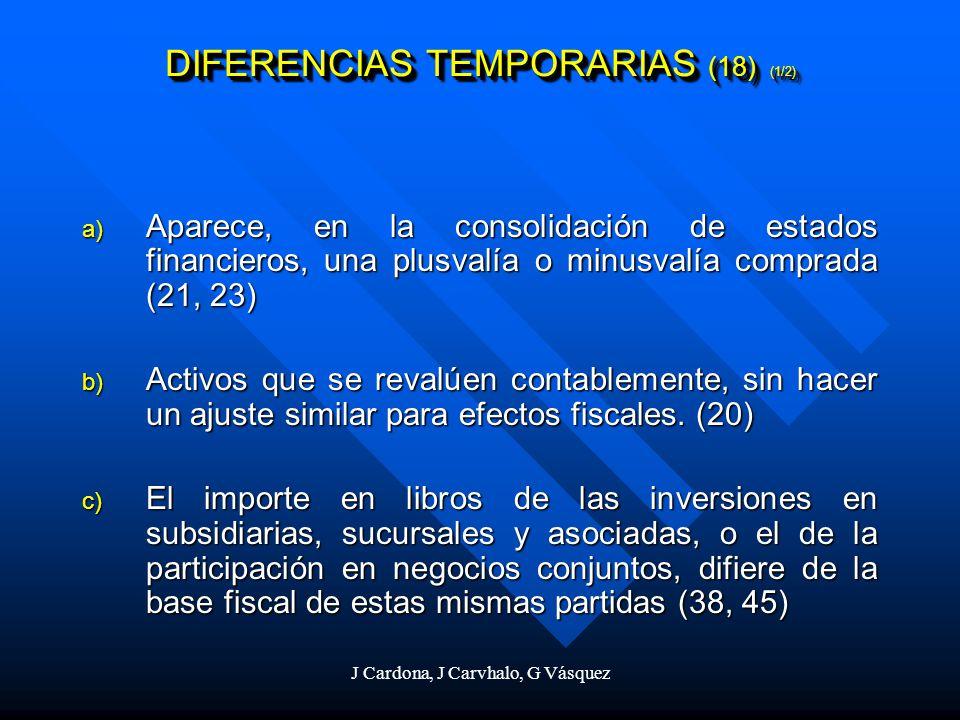 DIFERENCIAS TEMPORARIAS (18) (1/2)
