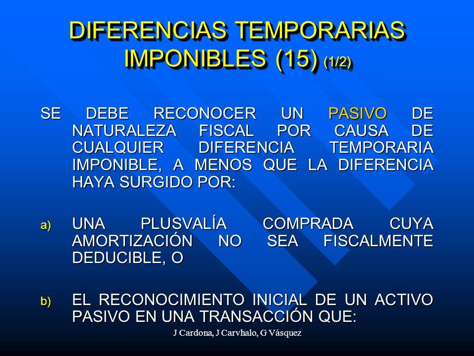 DIFERENCIAS TEMPORARIAS IMPONIBLES (15) (1/2)