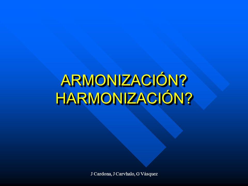 ARMONIZACIÓN HARMONIZACIÓN
