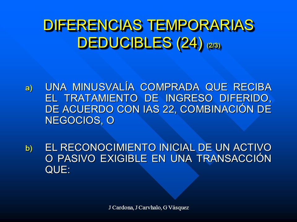 DIFERENCIAS TEMPORARIAS DEDUCIBLES (24) (2/3)
