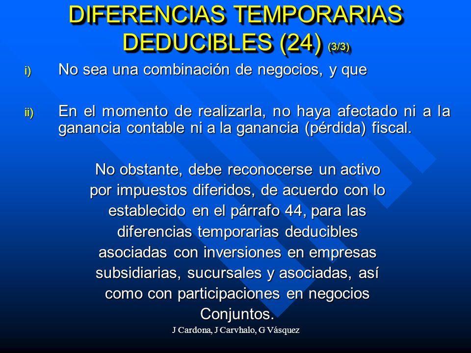 DIFERENCIAS TEMPORARIAS DEDUCIBLES (24) (3/3)