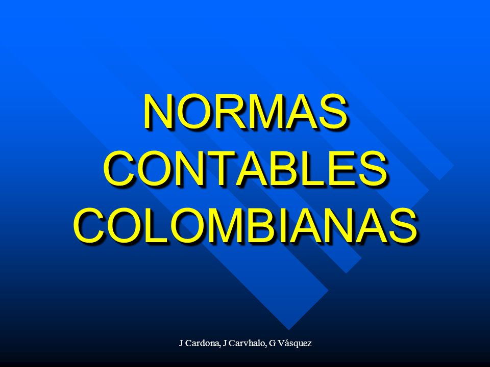 NORMAS CONTABLES COLOMBIANAS