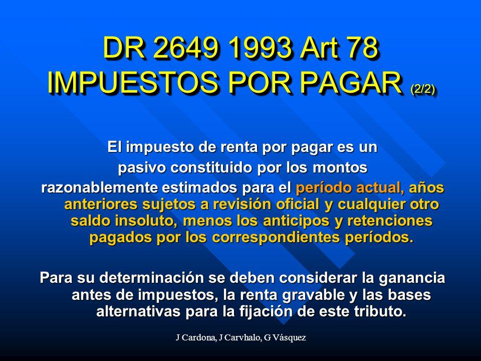 DR 2649 1993 Art 78 IMPUESTOS POR PAGAR (2/2)