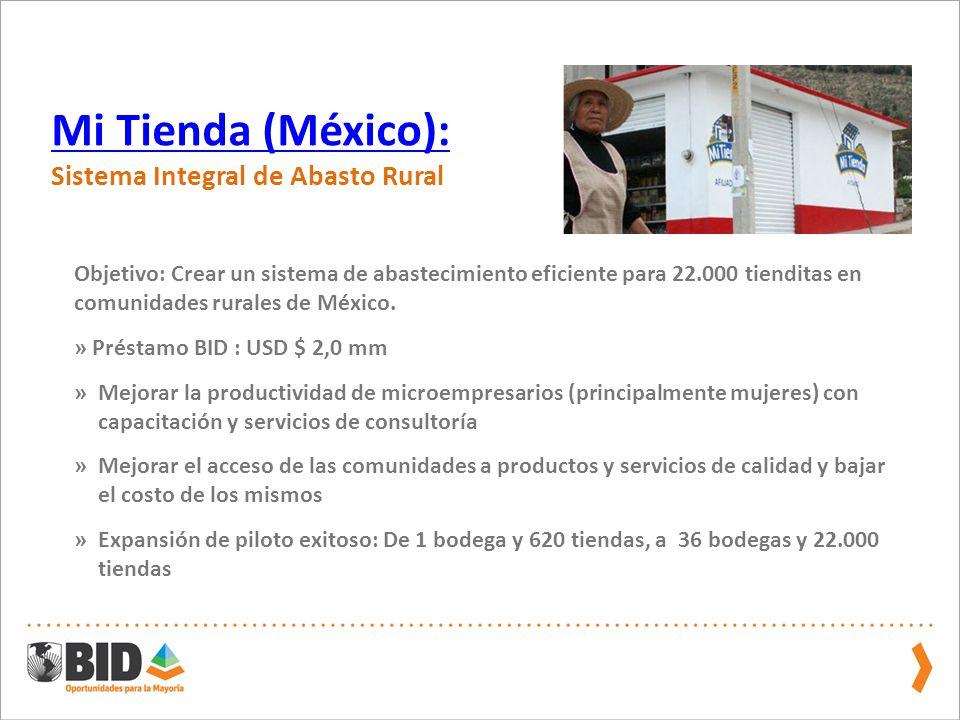 Mi Tienda (México): Sistema Integral de Abasto Rural.