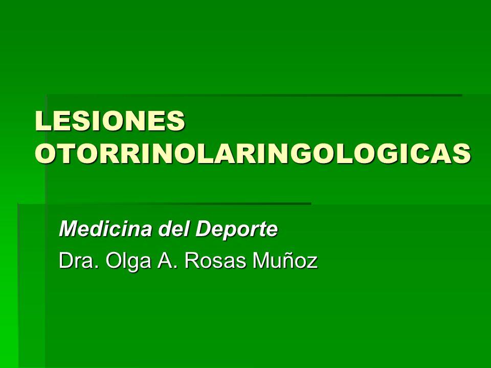 LESIONES OTORRINOLARINGOLOGICAS